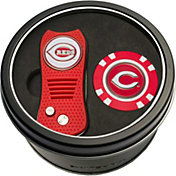 Team Golf Cincinnati Reds Switchfix Divot Tool and Poker Chip Ball Marker Set