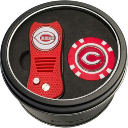 Team Golf Cincinnati Reds Switchfix Divot Tool and Poker Chip Ball Marker Set