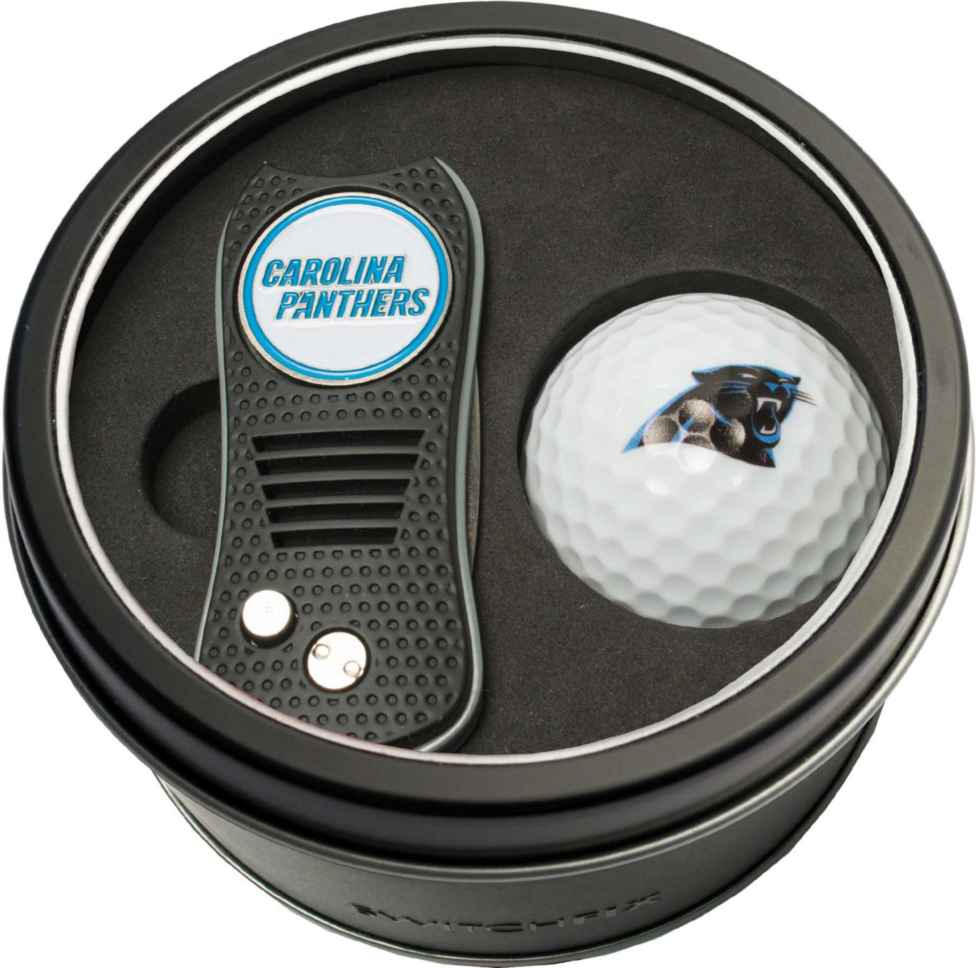 Team Golf Carolina Panthers Switchfix Divot Tool and Golf Ball Set