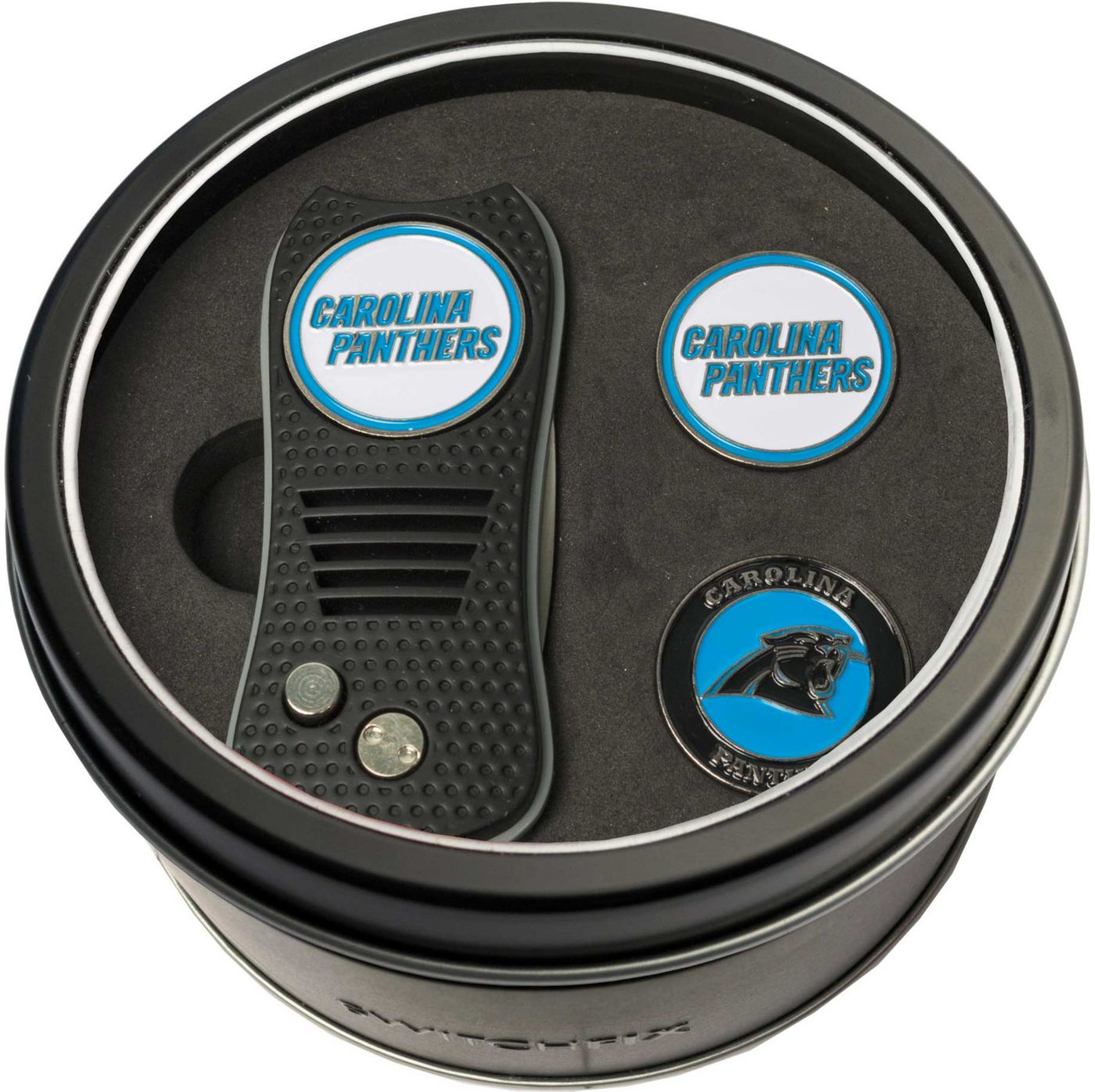 Team Golf Carolina Panthers Switchfix Divot Tool and Ball Markers Set