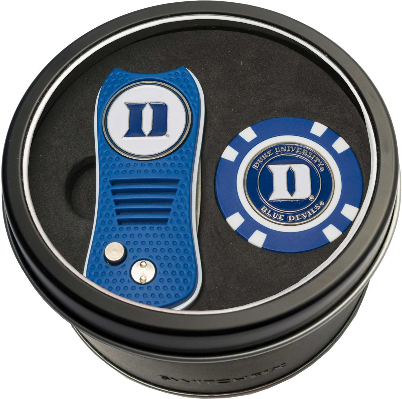 Team Golf Duke Blue Devils Switchfix Divot Tool and Poker Chip Ball Marker Set