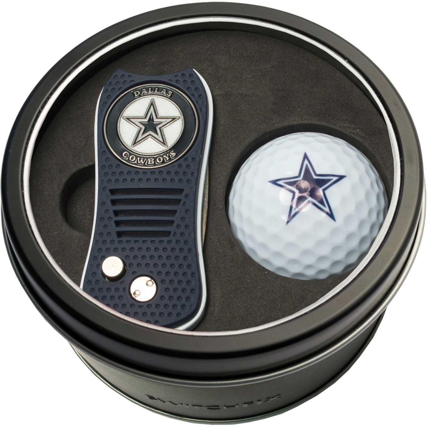 Team Golf Dallas Cowboys Switchfix Divot Tool and Golf Ball Set