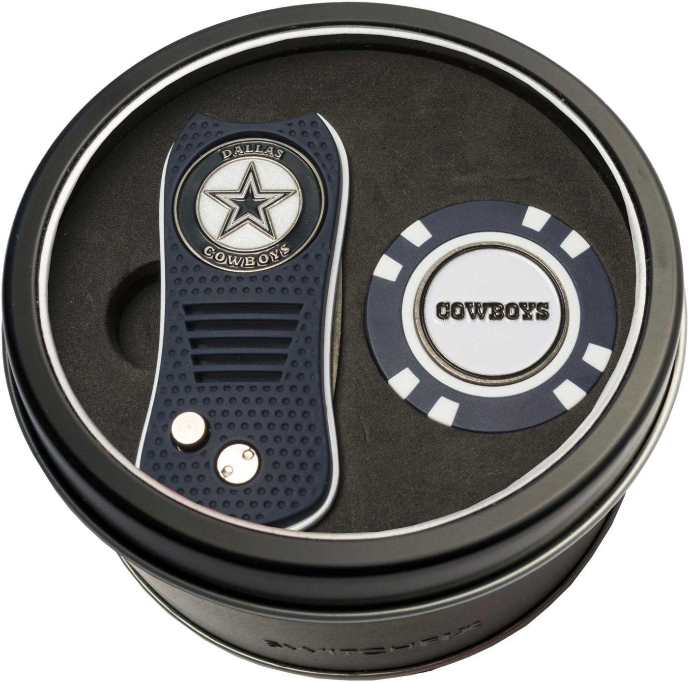 Team Golf Dallas Cowboys Switchfix Divot Tool and Poker Chip Ball Marker Set