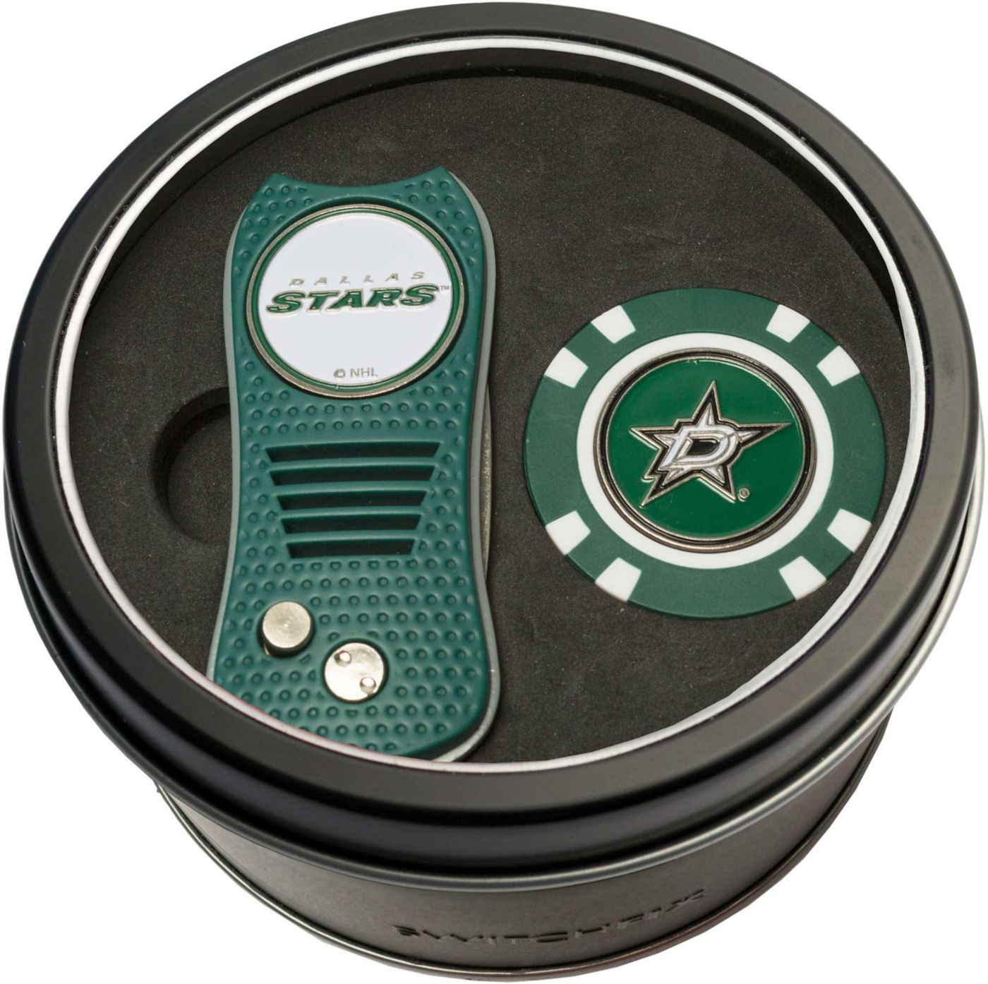 Team Golf Dallas Stars Switchfix Divot Tool and Poker Chip Ball Marker Set