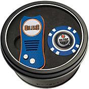 Team Golf Edmonton Oilers Switchfix Divot Tool and Poker Chip Ball Marker Set