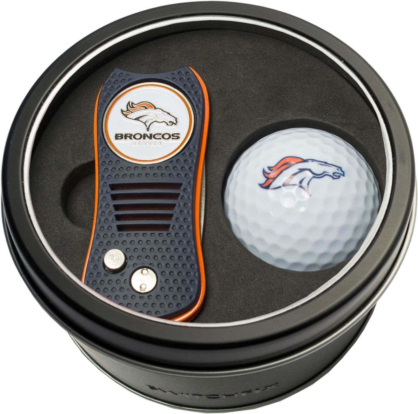Team Golf Denver Broncos Switchfix Divot Tool and Golf Ball Set