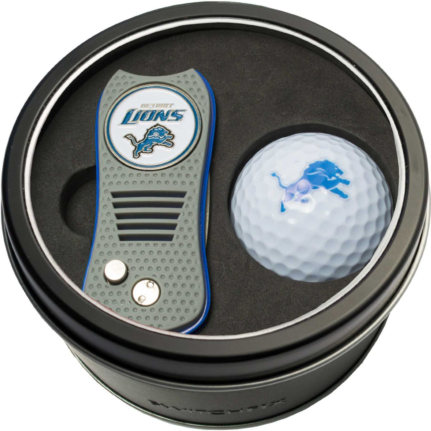 Team Golf Detroit Lions Switchfix Divot Tool and Golf Ball Set