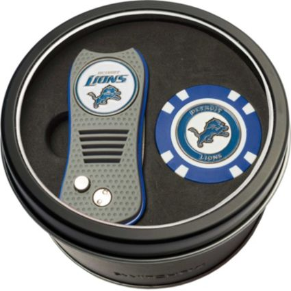 Team Golf Detroit Lions Switchfix Divot Tool and Poker Chip Ball Marker Set