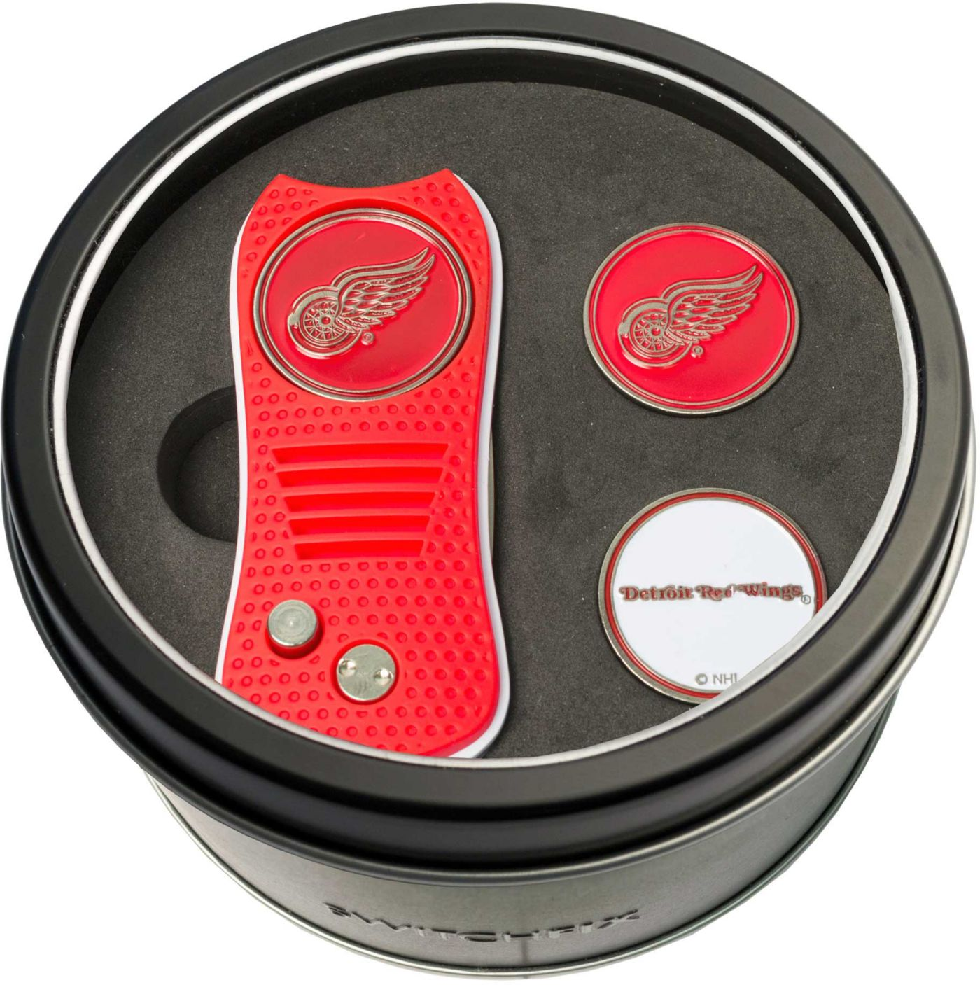 Team Golf Detroit Red Wings Switchfix Divot Tool and Ball Markers Set