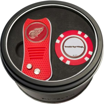 Team Golf Detroit Red Wings Switchfix Divot Tool and Poker Chip Ball Marker Set
