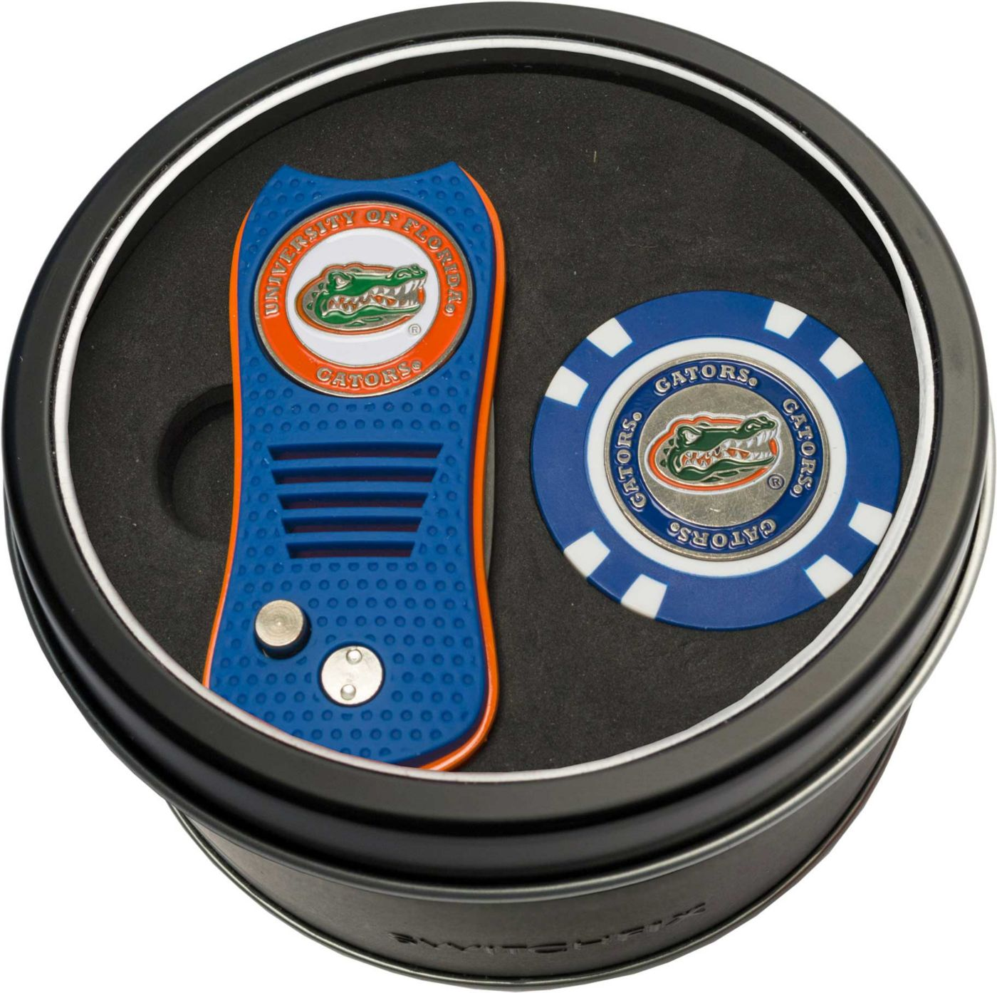 Team Golf Florida Gators Switchfix Divot Tool and Poker Chip Ball Marker Set