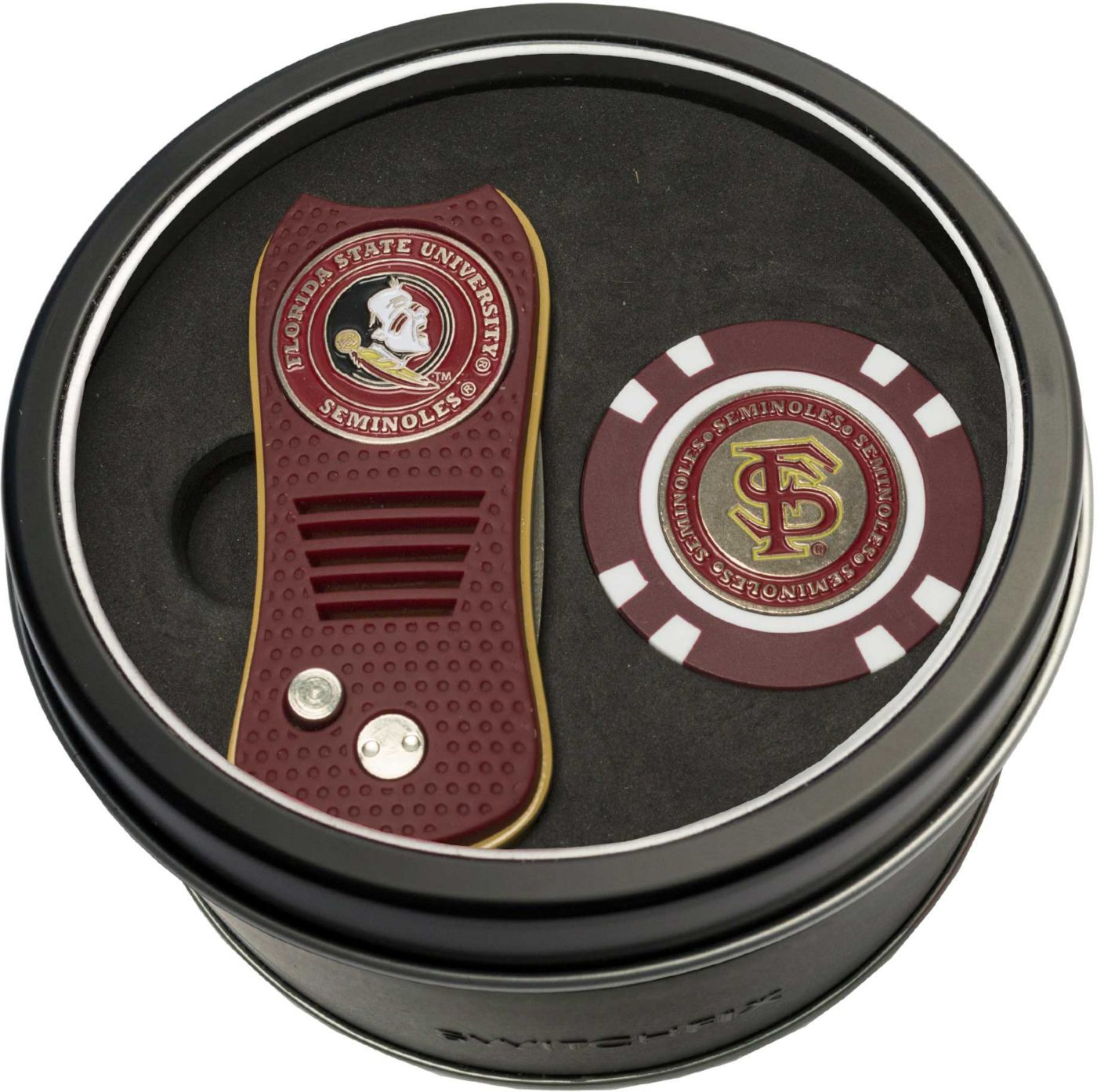 Team Golf Florida State Seminoles Switchfix Divot Tool and Poker Chip Ball Marker Set
