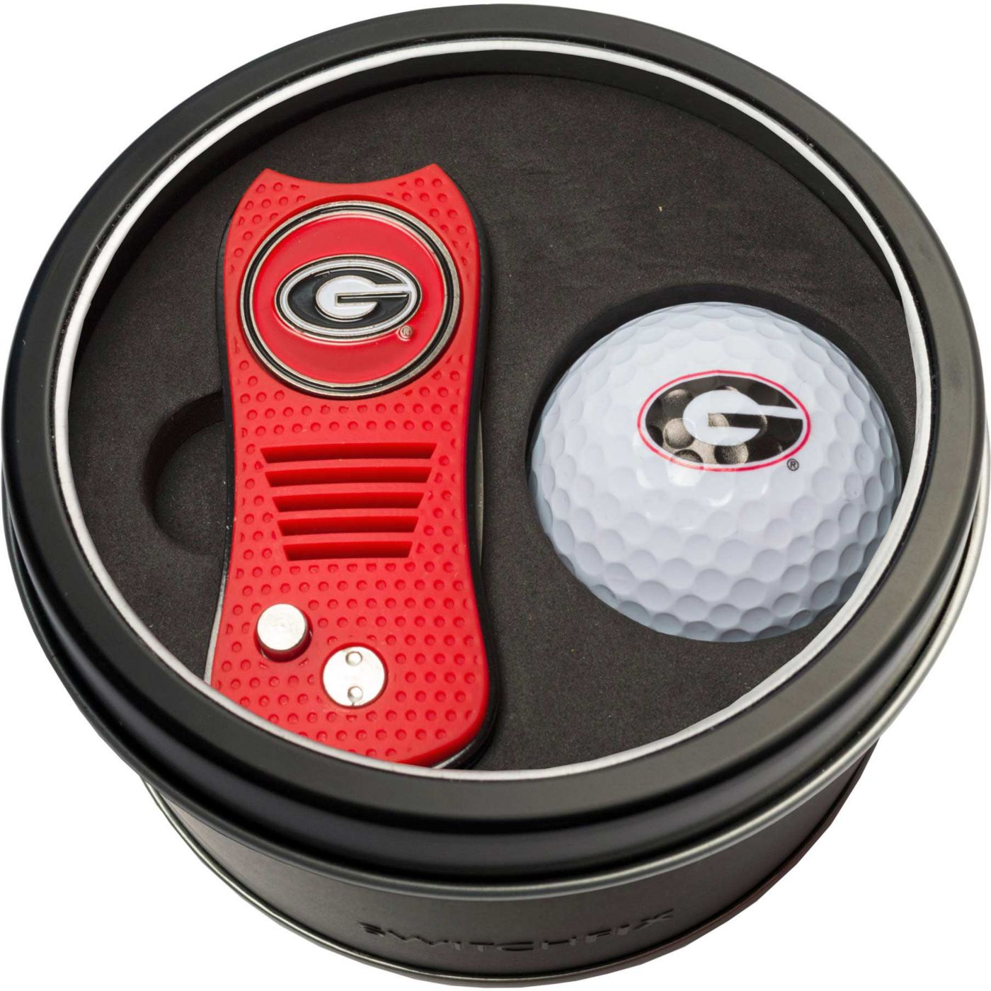 Team Golf Georgia Bulldogs Switchfix Divot Tool and Golf Ball Set