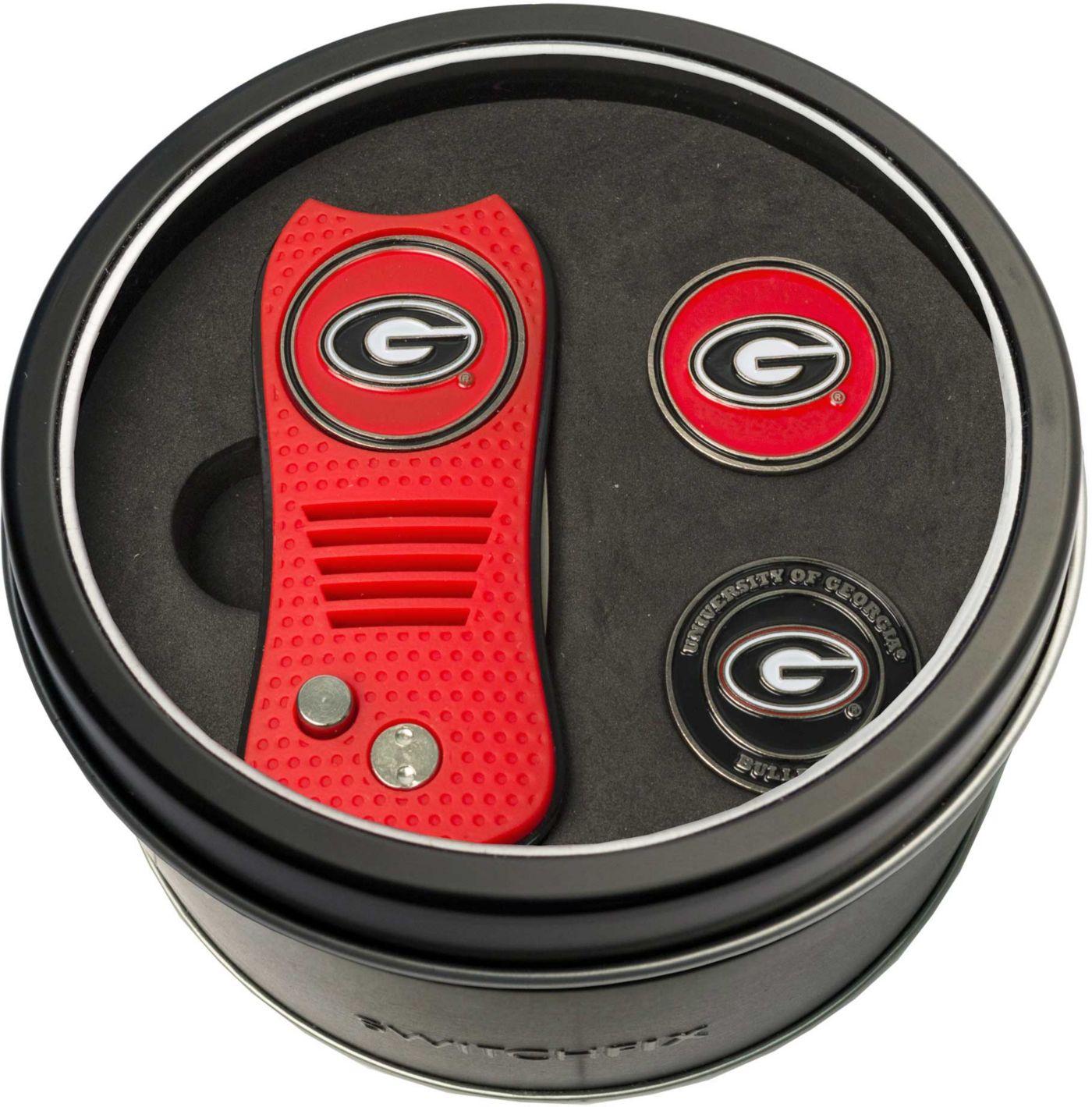 Team Golf Georgia Bulldogs Switchfix Divot Tool and Ball Markers Set