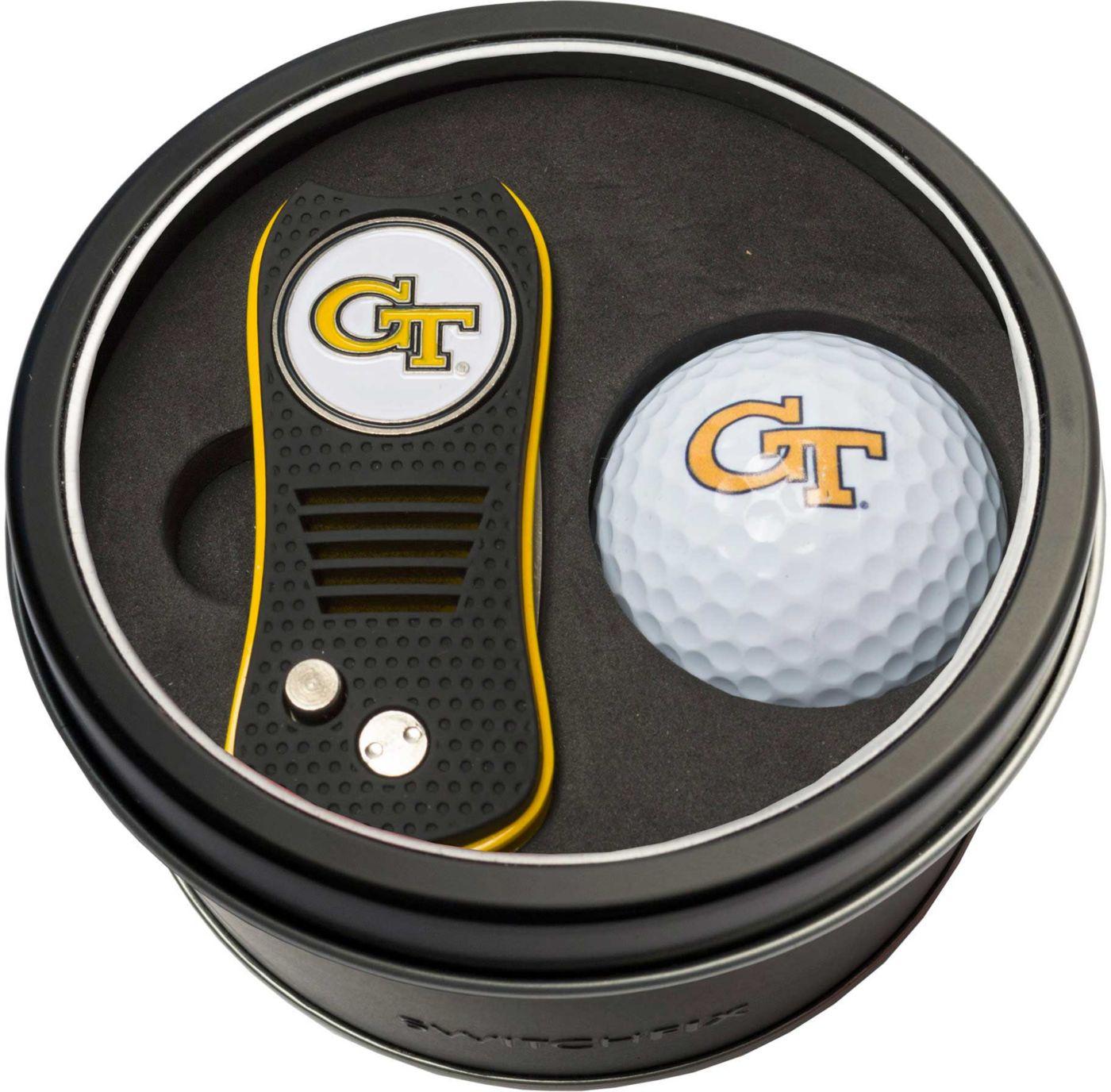 Team Golf Georgia Tech Yellow Jackets Switchfix Divot Tool and Golf Ball Set