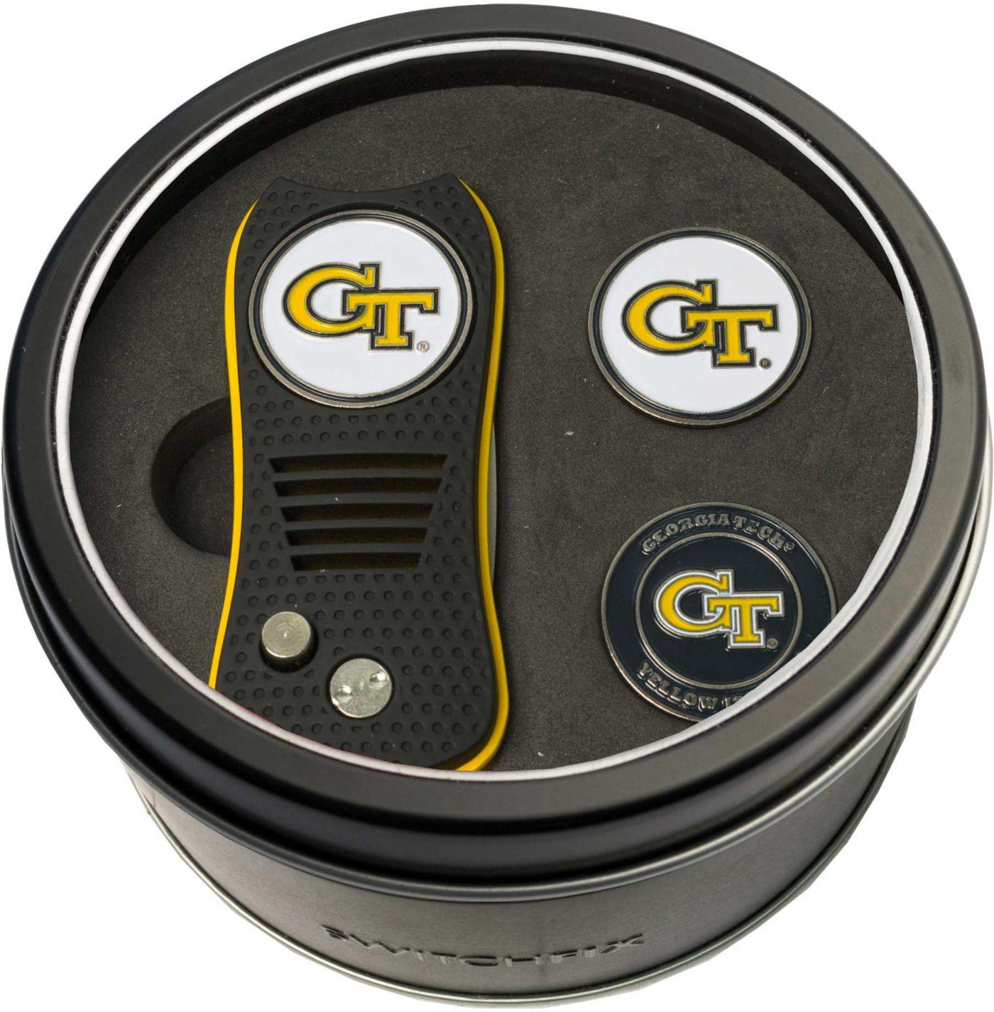 Team Golf Georgia Tech Yellow Jackets Switchfix Divot Tool and Ball Markers Set