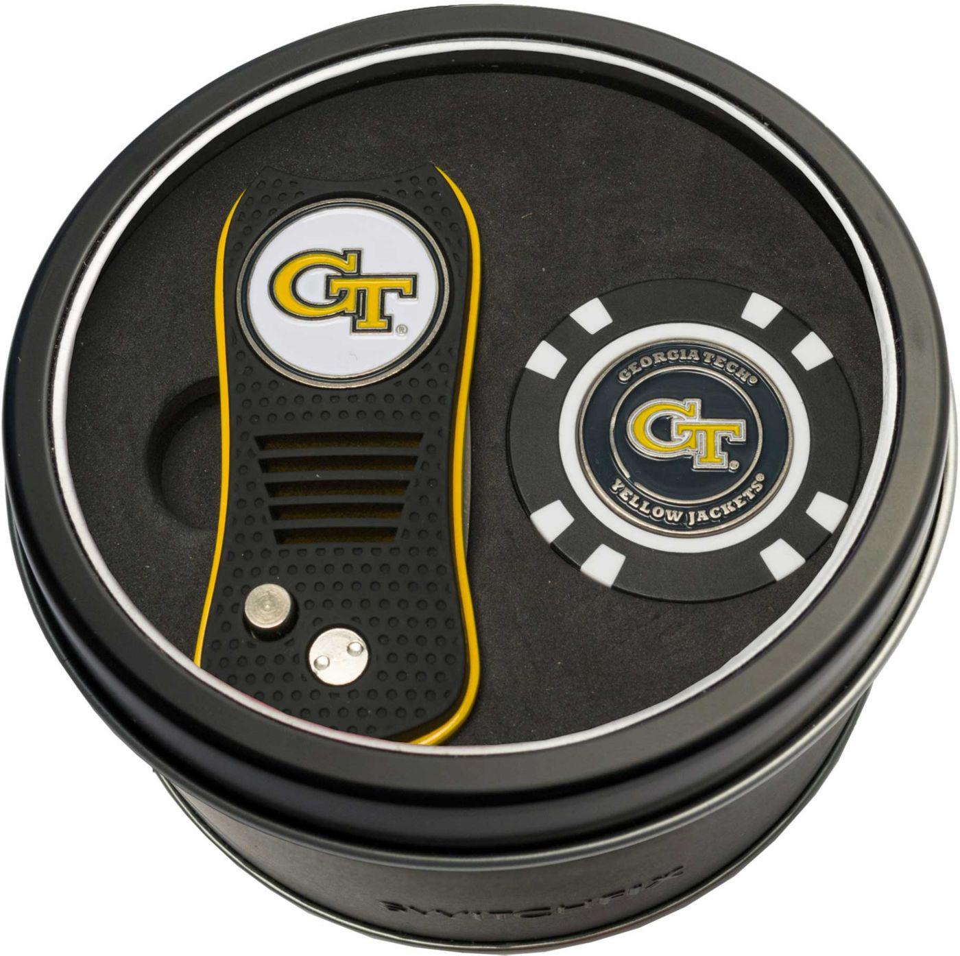 Team Golf Georgia Tech Yellow Jackets Switchfix Divot Tool and Poker Chip Ball Marker Set
