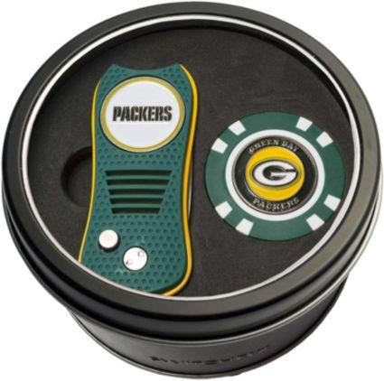 Team Golf Green Bay Packers Switchfix Divot Tool and Poker Chip Ball Marker Set