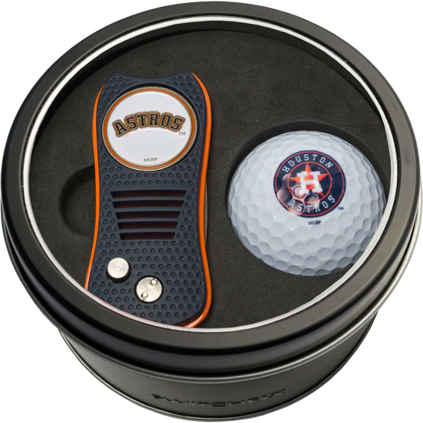 Team Golf Houston Astros Switchfix Divot Tool and Golf Ball Set
