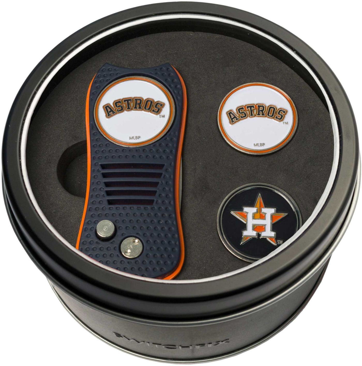 Team Golf Houston Astros Switchfix Divot Tool and Ball Markers Set