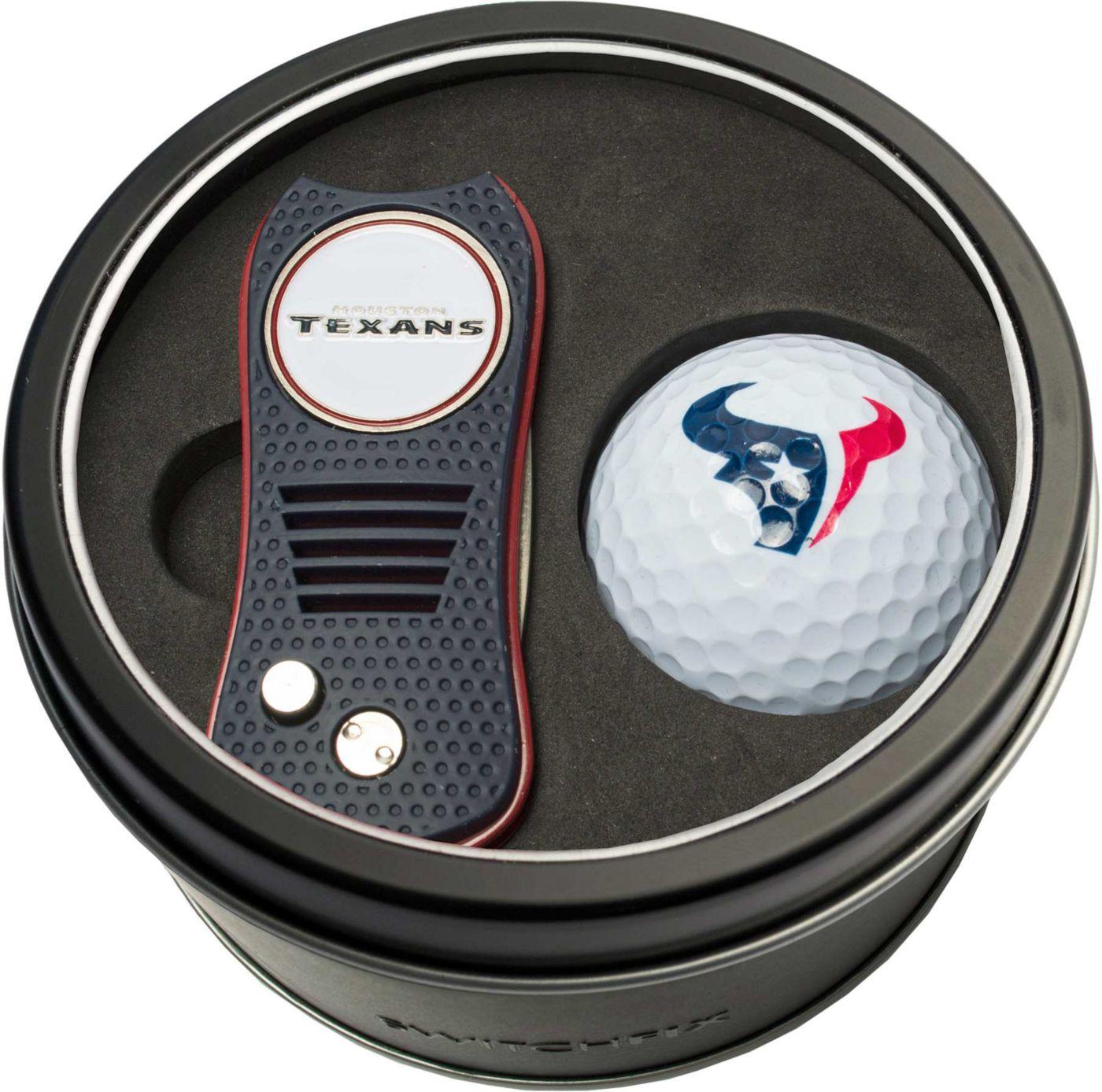 Team Golf Houston Texans Switchfix Divot Tool and Golf Ball Set