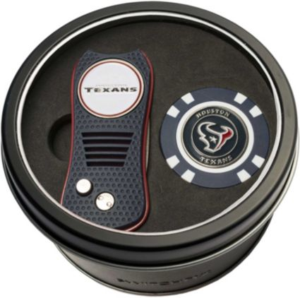 Team Golf Houston Texans Switchfix Divot Tool and Poker Chip Ball Marker Set