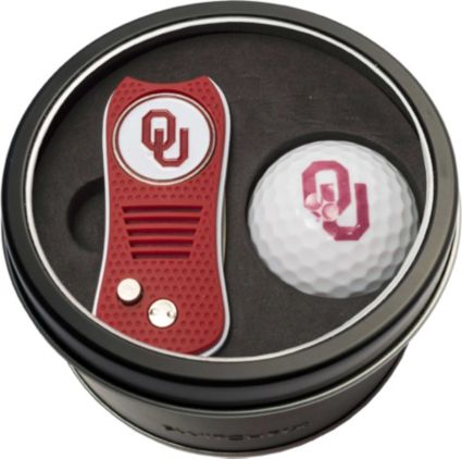 Team Golf Oklahoma Sooners Switchfix Divot Tool and Golf Ball Set