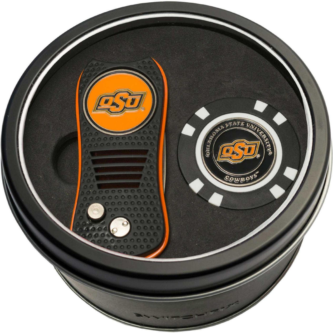 Team Golf Oklahoma State Cowboys Switchfix Divot Tool and Poker Chip Ball Marker Set