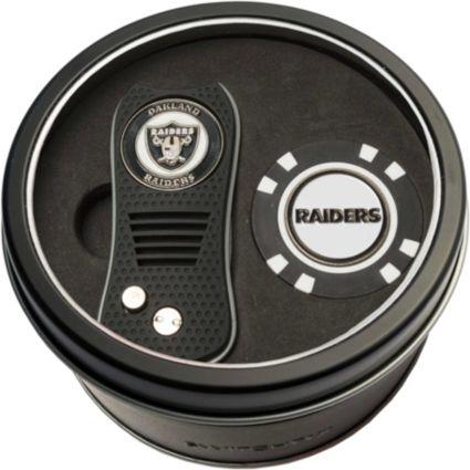 Team Golf Oakland Raiders Switchfix Divot Tool and Poker Chip Ball Marker Set