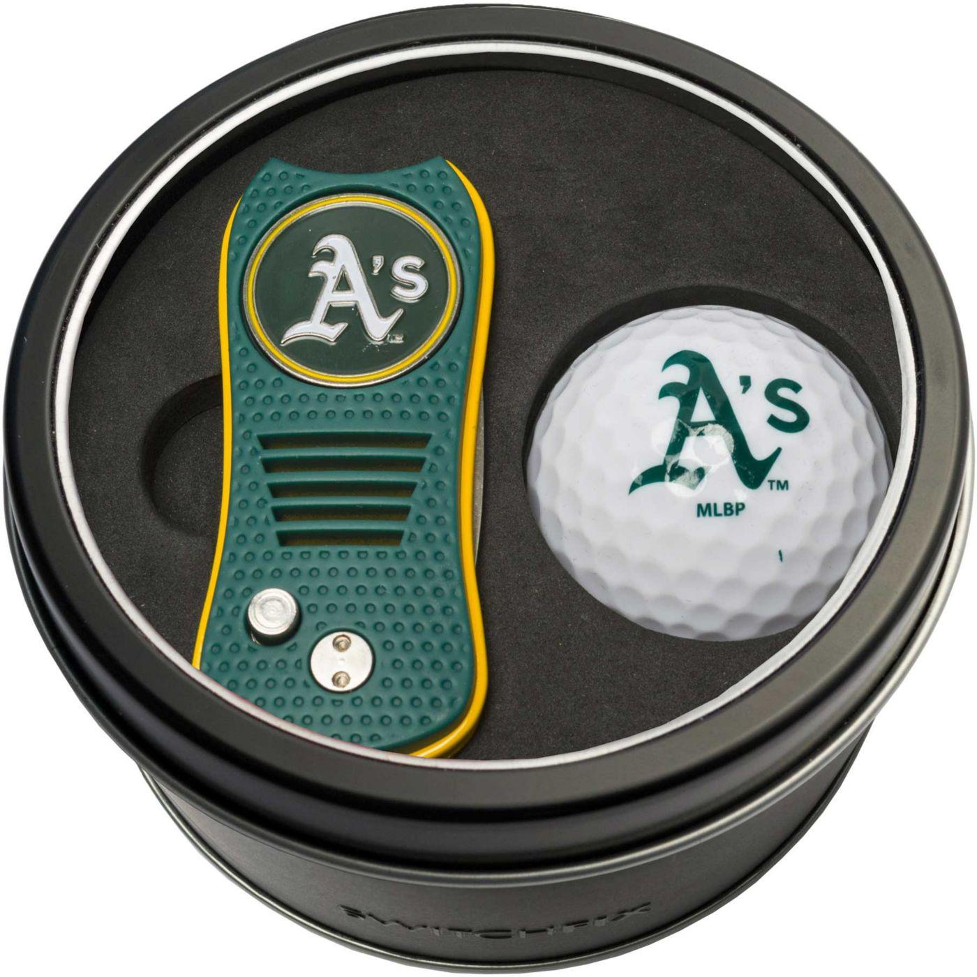 Team Golf Oakland Athletics Switchfix Divot Tool and Golf Ball Set