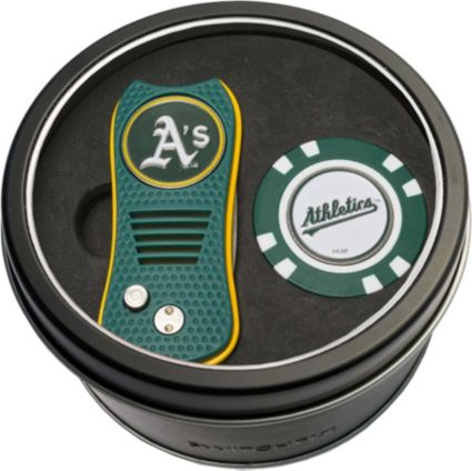 Team Golf Oakland Athletics Switchfix Divot Tool and Poker Chip Ball Marker Set