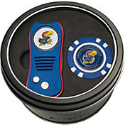 Team Golf Kansas Jayhawks Switchfix Divot Tool and Poker Chip Ball Marker Set
