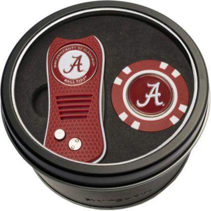 Team Golf Alabama Crimson Tide Switchfix Divot Tool and Poker Chip Ball Marker Set