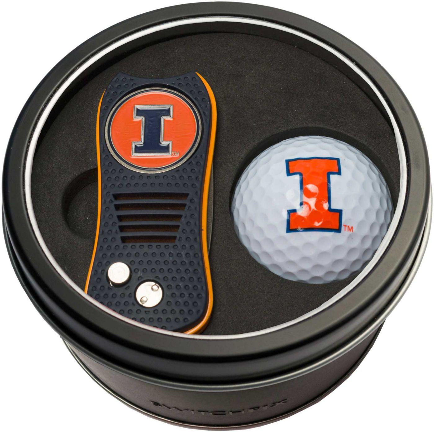 Team Golf Illinois Fighting Illini Switchfix Divot Tool and Golf Ball Set