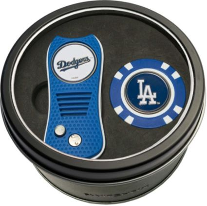 Team Golf Los Angeles Dodgers Switchfix Divot Tool and Poker Chip Ball Marker Set