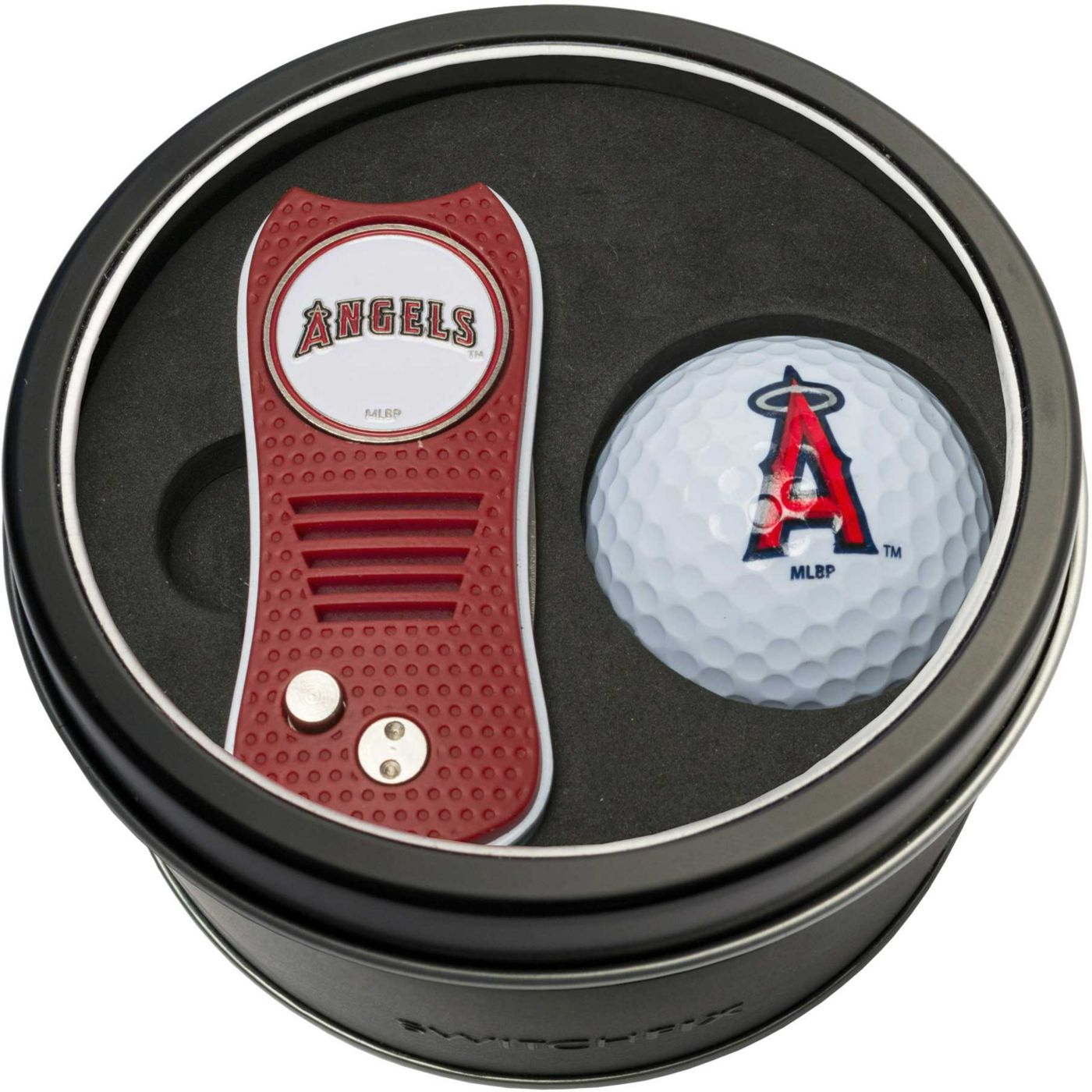 Team Golf Los Angeles Angels Switchfix Divot Tool and Golf Ball Set