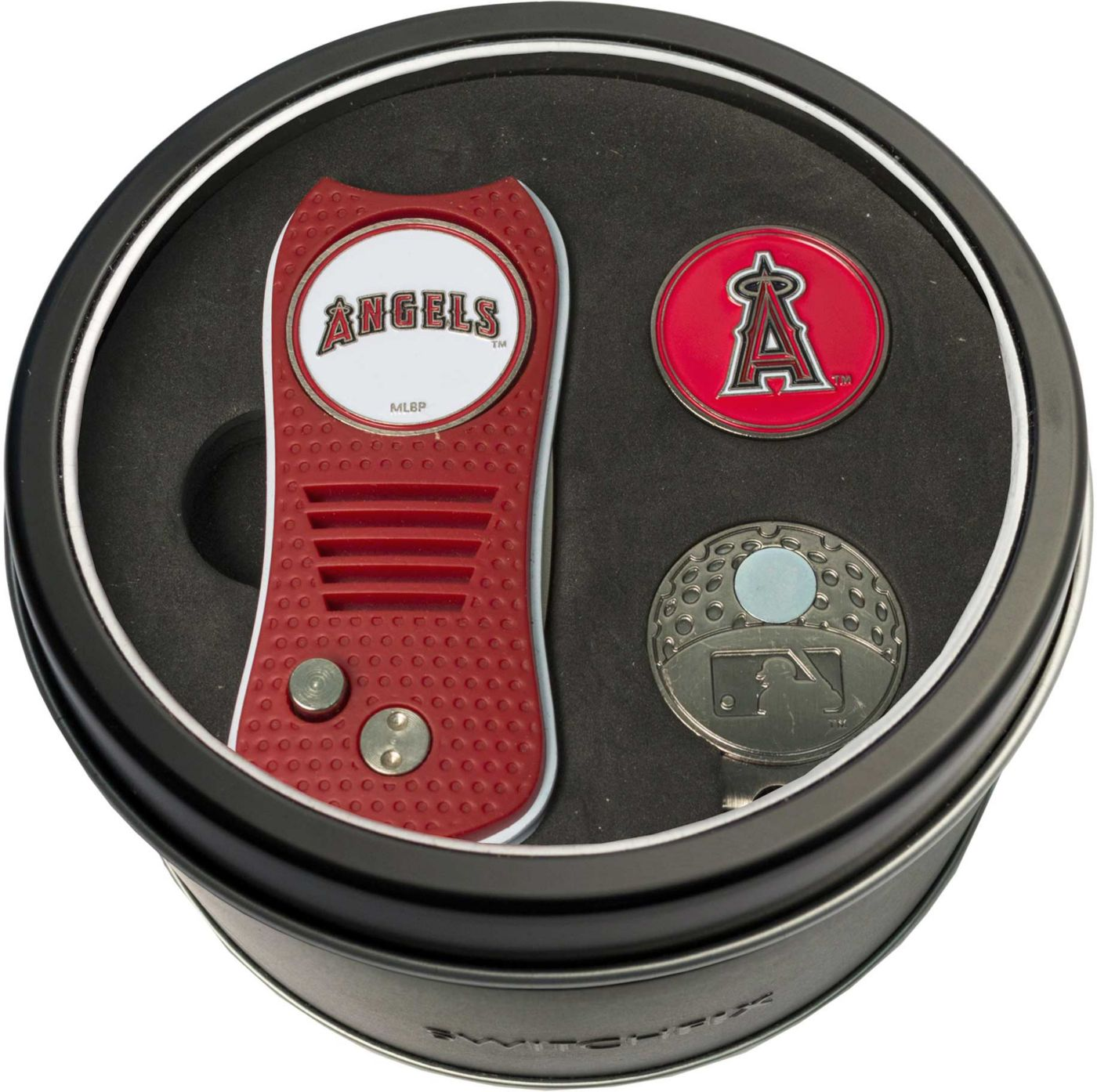 Team Golf Los Angeles Angels Switchfix Divot Tool and Cap Clip Set