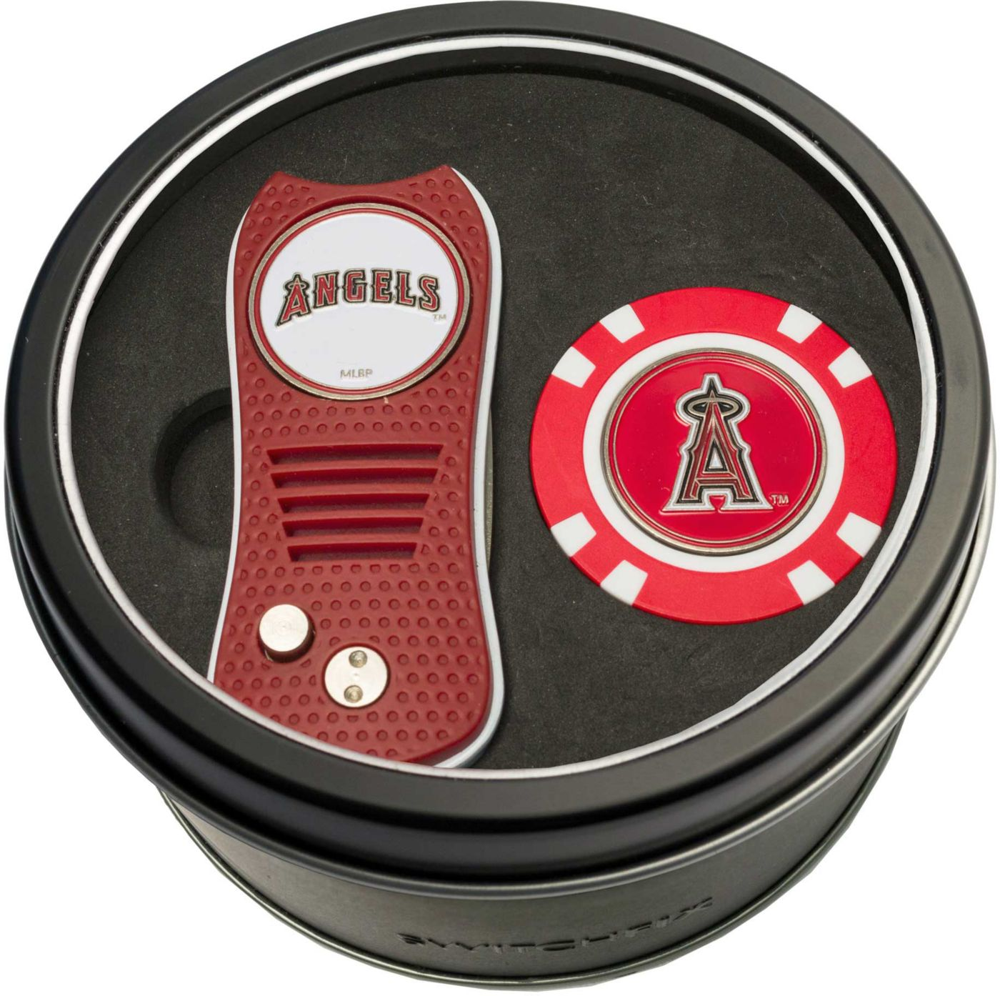 Team Golf Los Angeles Angels Switchfix Divot Tool and Poker Chip Ball Marker Set