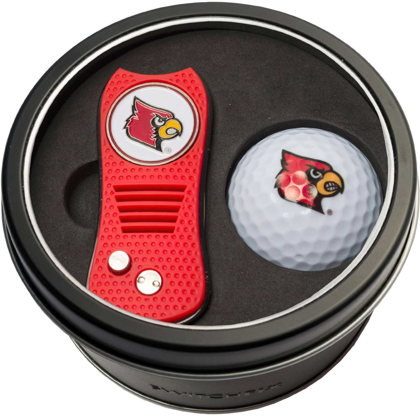 Team Golf Louisville Cardinals Switchfix Divot Tool and Golf Ball Set