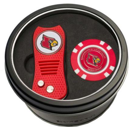 Team Golf Louisville Cardinals Switchfix Divot Tool and Poker Chip Ball Marker Set