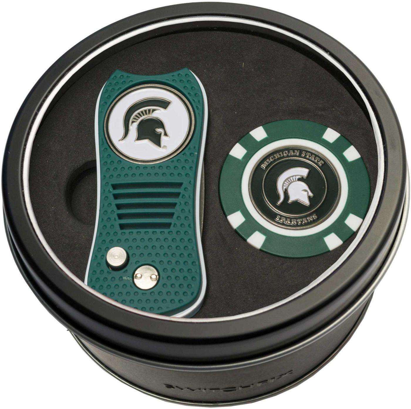 Team Golf Michigan State Spartans Switchfix Divot Tool and Poker Chip Ball Marker Set