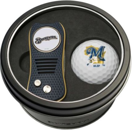 Team Golf Milwaukee Brewers Switchfix Divot Tool and Golf Ball Set