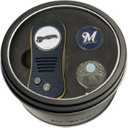 Team Golf Milwaukee Brewers Switchfix Divot Tool and Cap Clip Set