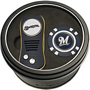 Team Golf Milwaukee Brewers Switchfix Divot Tool and Poker Chip Ball Marker Set