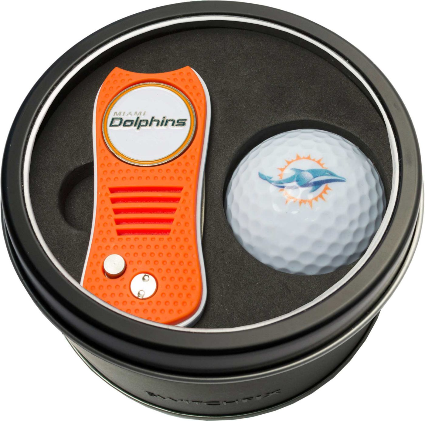Team Golf Miami Dolphins Switchfix Divot Tool and Golf Ball Set