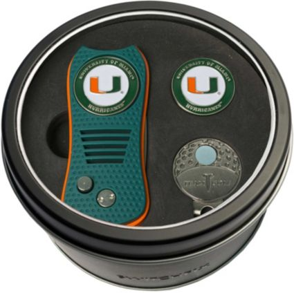 Team Golf Miami Hurricanes Switchfix Divot Tool and Cap Clip Set