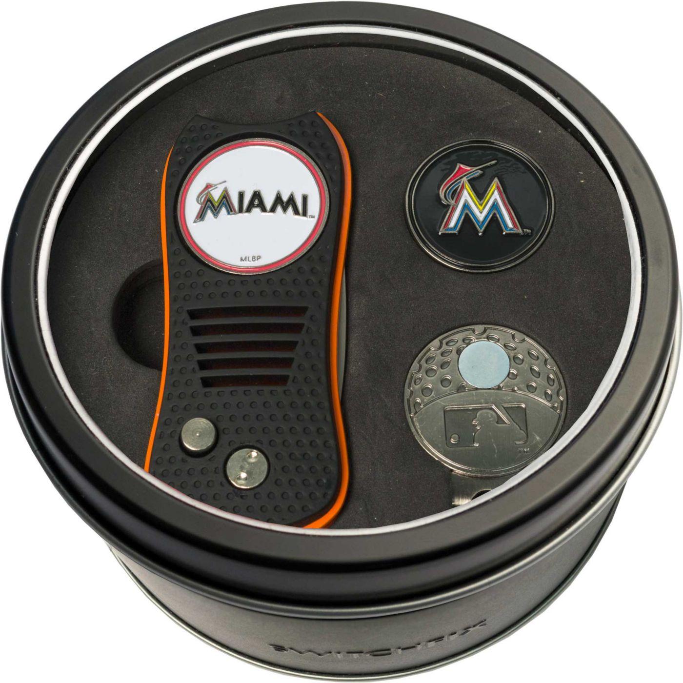 Team Golf Miami Marlins Switchfix Divot Tool and Cap Clip Set