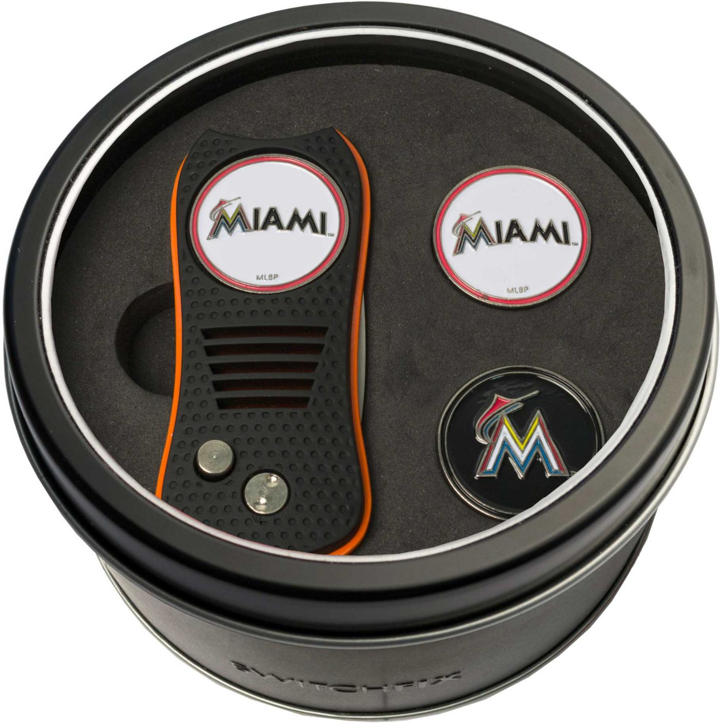 Team Golf Miami Marlins Switchfix Divot Tool and Ball Markers Set