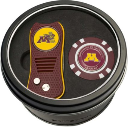 Team Golf Minnesota Golden Gophers Switchfix Divot Tool and Poker Chip Ball Marker Set