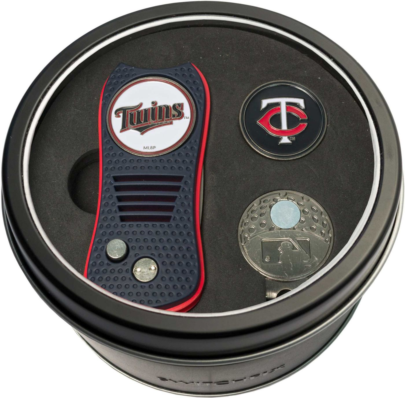Team Golf Minnesota Twins Switchfix Divot Tool and Cap Clip Set